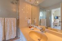 clean bathroom in Saint Barth Villa Les Acajous luxury holiday home, vacation rental