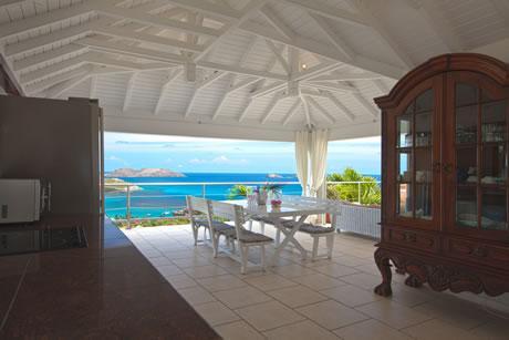 splendid sea view from Saint Barth Villa Mystique luxury holiday home, vacation rental