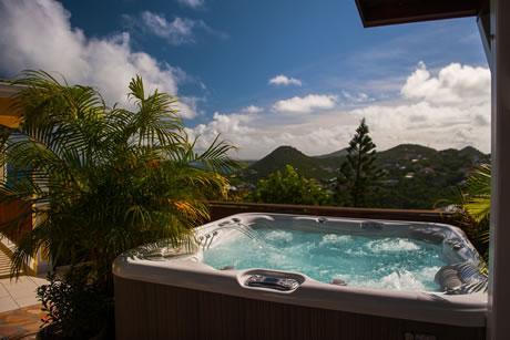 cool hot tub of Saint Barth Villa Natanya luxury holiday home, vacation rental