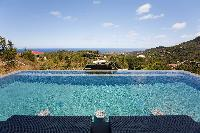cool infinity pool of Saint Barth Villa Victoria luxury holiday home, vacation rental