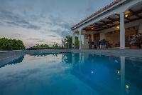 cool swimming pool of Saint Barth Villa Alouette luxury holiday home, vacation rental