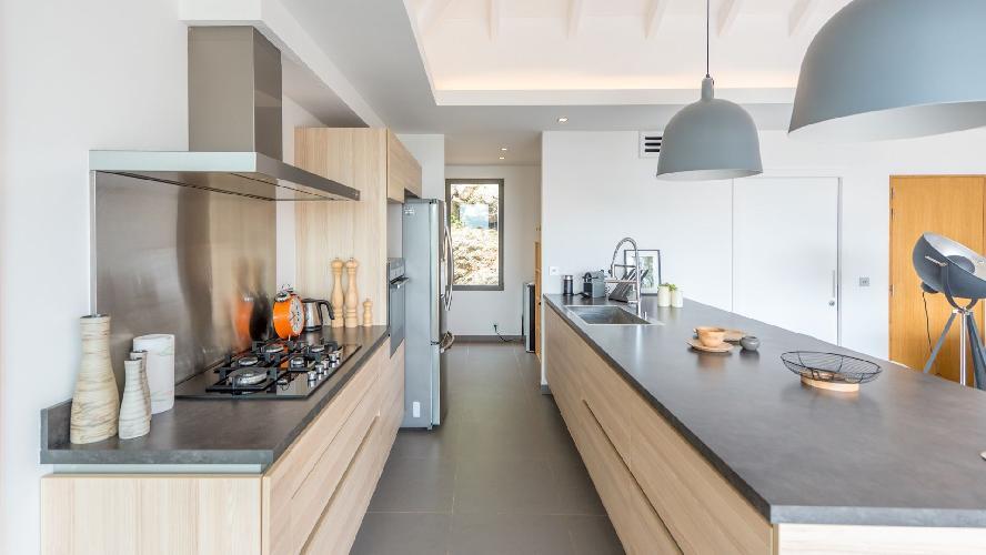 modern kitchen appliances in Saint Barth Villa Caco luxury holiday home, vacation rental