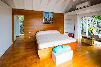 fresh bed sheets in Saint Barth Villa Lenalee luxury holiday home, vacation rental