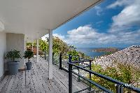 cool balcony of Saint Barth Villa Lenalee luxury holiday home, vacation rental