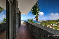 cool view deck of Saint Barth Villa Lenalee luxury holiday home, vacation rental