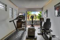 cool fitness room of Saint Barth Villa Lenalee luxury holiday home, vacation rental