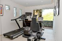 cool gym of Saint Barth Villa Lenalee luxury holiday home, vacation rental
