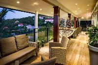 beautiful lanai of Saint Barth Villa Lenalee luxury holiday home, vacation rental