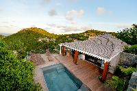 cool swimming pool of Saint Barth Villa Lenalee luxury holiday home, vacation rental