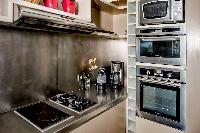 modern kitchen appliances in Saint Barth Villa Lenalee luxury holiday home, vacation rental