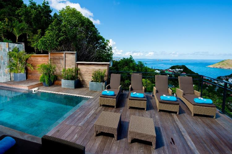 beautiful sea view from Saint Barth Villa Lenalee luxury holiday home, vacation rental