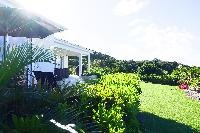 lush garden of Saint Barth Villa N' Joy luxury holiday home, vacation rental