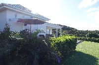 lovely garden of Saint Barth Villa N' Joy luxury holiday home, vacation rental