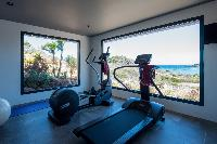 cool gym of Saint Barth Villa Amethyste luxury holiday home, vacation rental