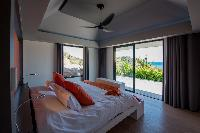 clean bedroom linens in Saint Barth Villa Amethyste luxury holiday home, vacation rental
