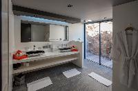 clean lavatory in Saint Barth Villa Amethyste luxury holiday home, vacation rental