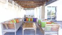 cool patio of Saint Barth Villa Eole luxury holiday home, vacation rental