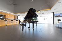 beautiful grand piano in Saint Barth Villa My Way luxury holiday home, vacation rental