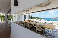 incredible dining room of Saint Barth Villa My Way luxury holiday home, vacation rental