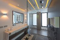 cool rain shower in Saint Barth Villa My Way luxury holiday home, vacation rental
