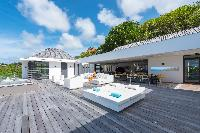 cool poolside of Saint Barth Villa My Way luxury holiday home, vacation rental