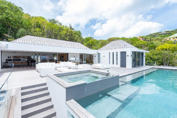 cool swimming pool of Saint Barth Villa My Way luxury holiday home, vacation rental