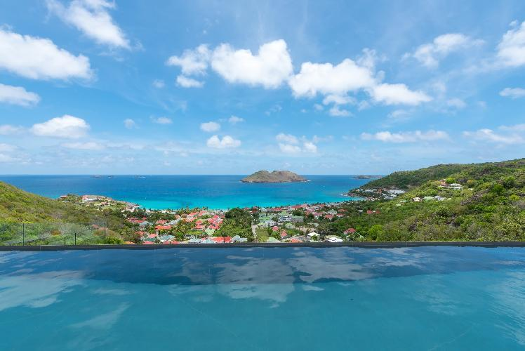 cool infinity pool of Saint Barth Villa My Way luxury holiday home, vacation rental