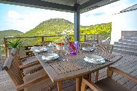 cool terrace of Saint Barth Villa Datcha luxury holiday home, vacation rental