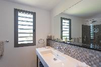 spic-and-span bathroom in Saint Barth Villa Lagon Vert luxury holiday home, vacation rental