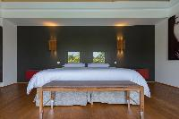 fresh bed sheets in Saint Barth Villa Lagon Vert luxury holiday home, vacation rental