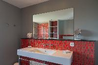 clean toilet and bath in Saint Barth Villa Lagon Vert luxury holiday home, vacation rental