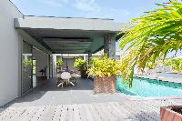 cool patio of Saint Barth Villa Lagon Vert luxury holiday home, vacation rental