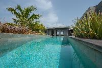 cool swimming pool of Saint Barth Villa Lagon Vert luxury holiday home, vacation rental
