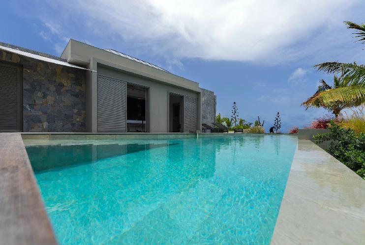 fun pool of Saint Barth Villa Lagon Vert luxury holiday home, vacation rental