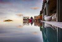 cool infinity pool of Saint Barth Villa Moh luxury holiday home, vacation rental