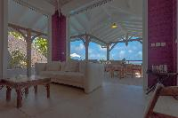 cool lanai of Saint Barth Villa Petit Lagon luxury holiday home, vacation rental