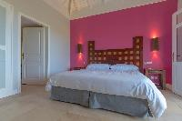fresh bedroom linens in Saint Barth Villa Petit Lagon luxury holiday home, vacation rental