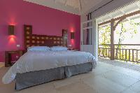 clean bedroom linens in Saint Barth Villa Petit Lagon luxury holiday home, vacation rental