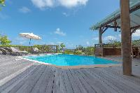 cool swimming pool of Saint Barth Villa Petit Lagon luxury holiday home, vacation rental