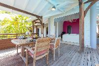 cool balcony of Saint Barth Villa Petit Lagon luxury holiday home, vacation rental