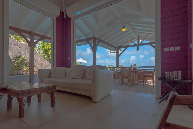 cool lanai of Saint Barth Villa Petit Lagon luxury holiday home, vacation rental