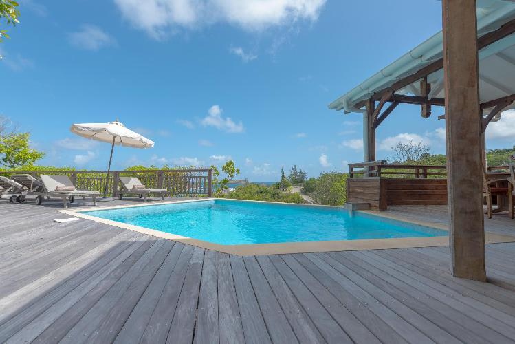 cool swimming pool of Saint Barth Villa Petit Lagon luxury holiday home, vacation rental