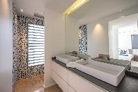 clean lavatory in Saint Barth Villa Seven luxury holiday home, vacation rental