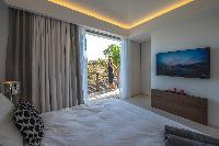pristine bedding in Saint Barth Villa Seven luxury holiday home, vacation rental