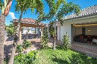 cool garden of Saint Barth Villa Seven luxury holiday home, vacation rental