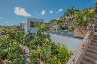 lush surroundings of Saint Barth Villa Seven luxury holiday home, vacation rental