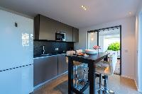 cool modern kitchen of Saint Barth Villa Seven luxury holiday home, vacation rental