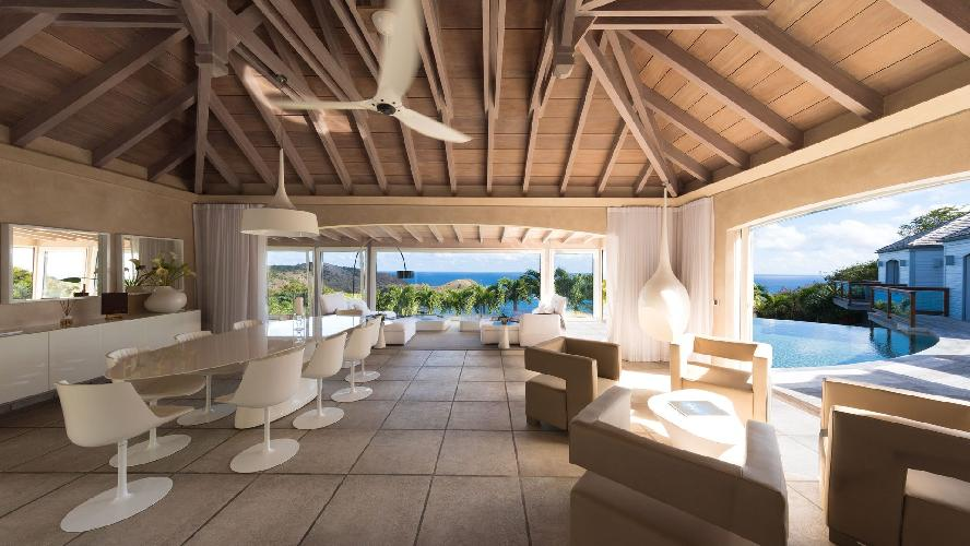incredible Saint Barth Villa Au Rêve luxury holiday home, vacation rental