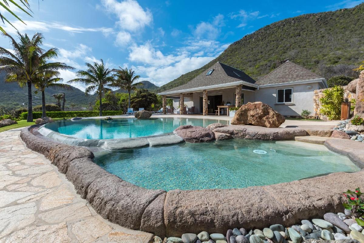 beautiful Saint Barth Villa La Roche Dans l'Eau luxury holiday home, vacation rental
