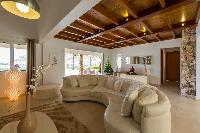 cool sitting area in Saint Barth Villa La Roche Dans l'Eau luxury holiday home, vacation rental